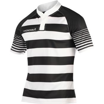 Textiel Jongens T-shirts korte mouwen Kooga K106B Zwart/Wit