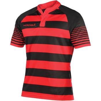Textiel Jongens T-shirts korte mouwen Kooga K106B Zwart/Rood
