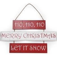 Wonen Kerst decoraties Christmas Shop Taille unique (59 x 36 cm) Rood / Wit