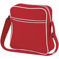 Tassen Jongens Schooltassen Bagbase BG16 Klassiek rood/wit