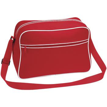 Tassen Jongens Schooltassen Bagbase BG14 Klassiek rood/wit