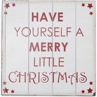 Wonen Kerst decoraties Christmas Shop Taille unique (40 x 40 cm) Wit / Rood