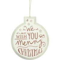 Wonen Kerst decoraties Christmas Shop Taille unique Witte Wens