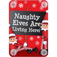 Wonen Kerst decoraties Christmas Shop Taille unique Hier wonen ondeugende elfen