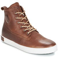 Schoenen Heren Hoge sneakers Blackstone INCH WORKER ON FOXING FUR Bruin