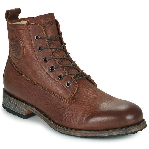 Schoenen Heren Laarzen Blackstone MID LACE UP BOOT FUR Bruin