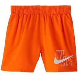 Textiel Jongens Zwembroeken/ Zwemshorts Nike BAÑADOR NIÑO  NESSA771 Oranje