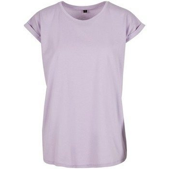 Textiel Dames T-shirts korte mouwen Build Your Brand Extended Lila
