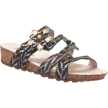 Schoenen Dames Leren slippers Laura Vita Brcyano 51 Zwart Meerkleurig