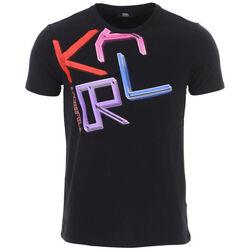 Textiel Heren T-shirts korte mouwen Karl Lagerfeld - kl21mts02 Zwart
