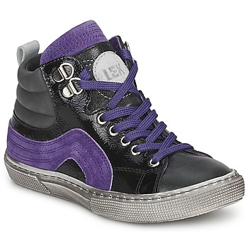 Schoenen Jongens Hoge sneakers Little Mary OPTIMAL Zwart / Violet