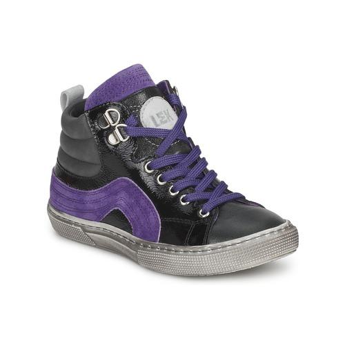 Schoenen Jongens Hoge sneakers Little Mary OPTIMAL Zwart / Violet
