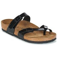 Schoenen Dames Leren slippers Birkenstock MAYARI Zwart / Lak