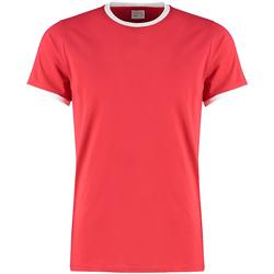Textiel Heren T-shirts korte mouwen Kustom Kit KK508 Rood/Wit