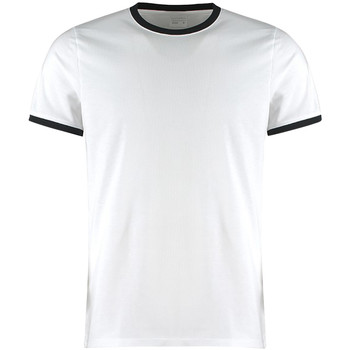 Textiel Heren T-shirts korte mouwen Kustom Kit KK508 Wit/zwart
