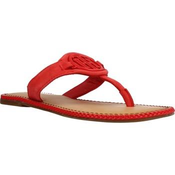 Schoenen Dames Sandalen / Open schoenen Tommy Hilfiger ESSENTIAL HARDWARE FLAT Rood