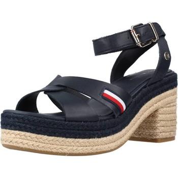 Schoenen Dames Sandalen / Open schoenen Tommy Hilfiger INTERLACE MID HEEL SA Blauw