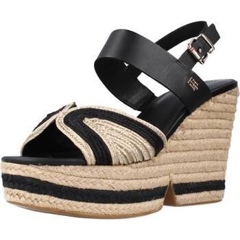 Schoenen Dames Sandalen / Open schoenen Tommy Hilfiger ARTISANAL HIGH WEDGE Zwart