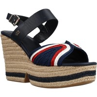Schoenen Dames Sandalen / Open schoenen Tommy Hilfiger ARTISANAL HIGH WEDGE Blauw