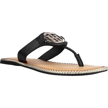 Schoenen Dames Sandalen / Open schoenen Tommy Hilfiger ESSENTIAL LEATHER FLAT S Zwart