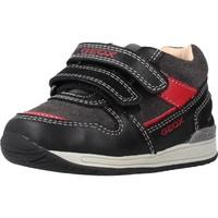 Schoenen Jongens Laarzen Geox B RISHON BOY Zwart