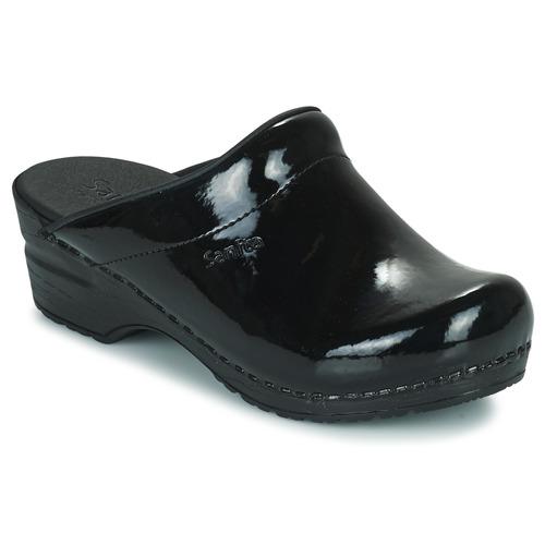 Schoenen Dames Klompen Sanita SONJA OPEN Zwart