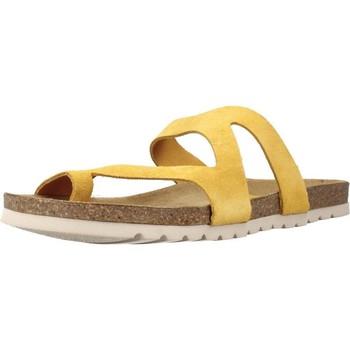 Schoenen Dames Leren slippers Chardi 4170CH Geel