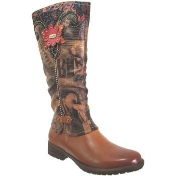 Schoenen Dames Hoge laarzen Laura Vita Gacmayo 15 Lichtbruin