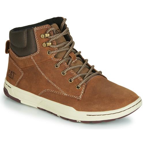 Caterpillar Chaussures De Sport Haut Pour Les Hommes, Beige, Taille: 40