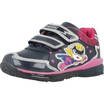 Schoenen Meisjes Lage sneakers Geox B TODO GIRL Blauw