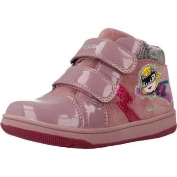 Schoenen Meisjes Hoge sneakers Geox B NEW FLICK GIRL Roze
