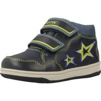 Schoenen Jongens Hoge sneakers Geox B NEW FLICK BOY Blauw