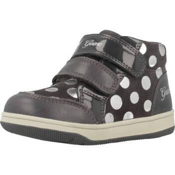 Schoenen Meisjes Hoge sneakers Geox B NEW FLICK G Grijs