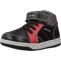 Schoenen Jongens Hoge sneakers Geox B NEW FLICK BOY Zwart