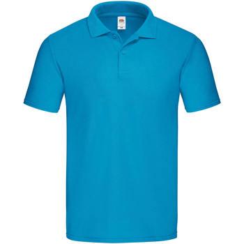 Textiel Heren Polo's korte mouwen Fruit Of The Loom 63050 Azuurblauw
