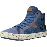 Schoenen Jongens Hoge sneakers Geox J ALONISSO BOY Blauw