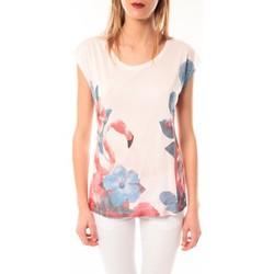 Textiel Dames T-shirts korte mouwen Little Marcel T-shirt E15FTSS0231 Tibali Rose poudre Roze
