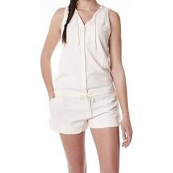 Textiel Dames Jumpsuites / Tuinbroeken Little Marcel Combishort Cosbi E15WSHO0203 Blanc Ivoire Wit