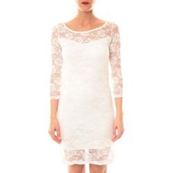 Textiel Dames Korte jurken La Vitrine De La Mode Robe 158 By La Vitrine écru Beige