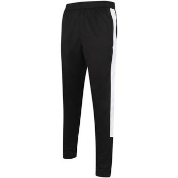 Textiel Heren Trainingsbroeken Finden & Hales LV881 Zwart/Wit