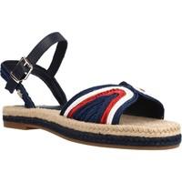 Schoenen Dames Sandalen / Open schoenen Tommy Hilfiger ARTISANAL FLAT SANDAL Blauw