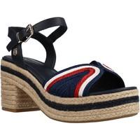 Schoenen Dames Sandalen / Open schoenen Tommy Hilfiger TH ARTISANAL MID HEEL SA Blauw