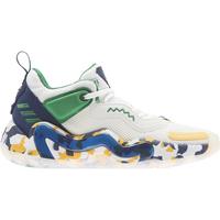 Schoenen Kinderen Basketbal adidas Originals Chaussures enfant  D.O.N. Issue 3 J blanc/vert/bleu
