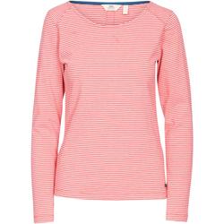 Textiel Dames T-shirts met lange mouwen Trespass  Hibiscus rode streep