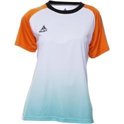 Textiel Dames T-shirts korte mouwen Select T-shirt femme  Player Femina orange/blanc/vert