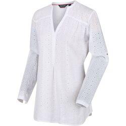 Textiel Dames T-shirts met lange mouwen Regatta  Wit