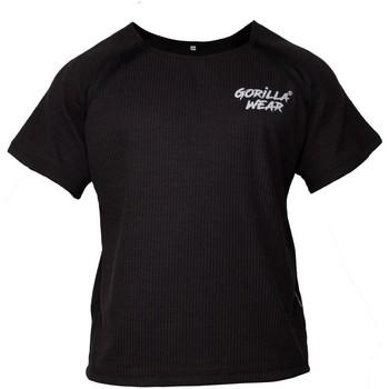 Textiel T-shirts korte mouwen Gorilla Wear Augustine Old School Workout Top Black Zwart