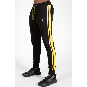 Textiel Trainingsbroeken Gorilla Wear Banks Pants Black/Yellow Zwart