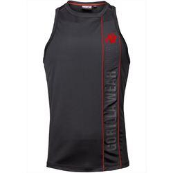 Textiel Mouwloze tops Gorilla Wear Branson Tank Top Black/Red Zwart