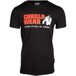 Textiel T-shirts korte mouwen Gorilla Wear Classic T-shirt Black Zwart